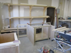Let us design and custom build your kitchen cabinets starting in our workshop to the